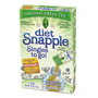 Snapple Iced Tea Singles To-Go, Diet Green Tea, 0.25 oz Stick, 72 sticks
