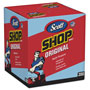 Kimberly-Clark Rags In A Box Shop Rags, Blue, 200/Box