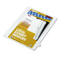 "Kleer-Fax ""X"" Index Tabs, White"