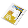 Kleer-Fax Number 7 Index Tabs, White