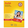 Kodak Photo Paper, Gloss, 8.5x11, 50 Sheets per Pack