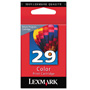 Lexmark No. 29 Ink Cartridge For Z845 Printer, Return Program, Color