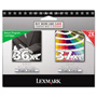 Lexmark 18C2249 (36XL, 37XL) Inkjet Cartridge, High-Yield, Black