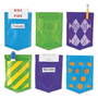 Learning Resources Magnetic Mini Pockets Solids & Patterns, 4 x 5 1/2, 6 per set