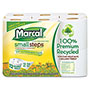 Marcal Small Steps 100% Recycled Double Roll Bathroom Tissue, 12 Rolls/Pack, 6 PK/CT