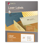 Maco Tag & Label Matte Clear Laser Labels, 1 x 4 1/4, 1000/Box