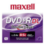 Maxell DVD+R DL Recordable Disc with Jewel Case, 8.5 GB, Silver, Single Disc
