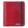 "Mead Cambridge® Basic iPad Case, Simulated Leather, 9-1/8"" x 1-1/8"" x 10-1/2"", Red"