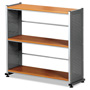 "Mayline Bookcase 3-Shelf, 31-1/4""x11""x31"", Medium Cherry"