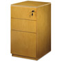 Mayline Luminary Series Box/Box/File Pedestal, 15w x 19d x 29h, Maple
