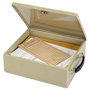 MMF Jumbo Cash Box w/Lock, Sand