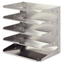 MMF Industries Soho Horizontal Organizer, Five Tier, Silver