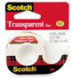 "Scotch Transparent Tape in Hand Dispenser, 1/2"" x 450"", Clear"