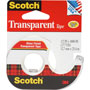 "3M Transparent Glossy Tape in Self Dispenser, 1/2"" x 1,000"""