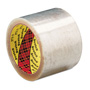 "3M Box Sealing Tape, 72 mm x 100 m, 3"" Core, Clear, 24/Carton"
