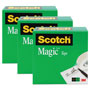 "Scotch Magic Tape, 1"" x 2592"", 3"" Core, 3/Pack"