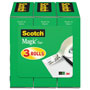 "Scotch Magic Tape Refill, 1/2"" x 1296"", 1"" Core, 3/Pack"