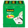 "Scotch Magic Tape Refill, 3/4"" x 1000"", 1"" Core, Clear, 3/Pack"