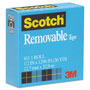 "Scotch Removable Tape, 1/2"" x 1296"", 1"" Core"