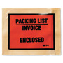 3M Non-Printed Self-Adhesive Packing List Envelope, 4 1/2 x 5 1/2, White, 1000/Box