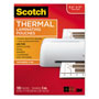 "Scotch Letter Size Thermal Laminating Pouches, 5 mil, 8 1/2"" x 11"", 100/Pack"