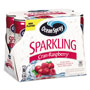 Ocean Spray Sparkling Juices, CranRaspberry, 8.4 oz Can, 6/Pack