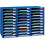 "Pacon 1.75"" x 12.5"" x 10"" Mail Sorter - Blue"