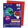 "Riverside Paper Construction Paper, 9"" x 12"", Holiday Red"