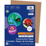 Riverside Paper Construction Paper, 76#, 25% Sulphite, 9 x 12, Lt Brown, 50 Sheets/pk
