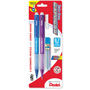 Pentel Mechanical Pencil, Refillable Lead/Eraser, .7mm, 2/PK, Assorted