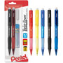Pentel Mechanical Pencil, Refillable Lead/Eraser, .7mm, Asst