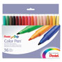 Pentel Fine Point Color Pen™ Set in Book Style Case, Water based Ink, 36 Colors/Set