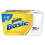 Bounty Basic Select-a-Size Paper Towels, 5 9/10 x 11, 1-Ply, 89/Roll, 12 Roll/Pack