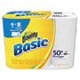 Bounty Basic Select-a-Size Paper Towels, 5 9/10 x 11, 1-Ply, 95/Roll, 6 Roll/Pack