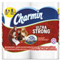 Charmin Ultra Strong Bathroom Tissue, 2-Ply, 4x3.92, 154/Roll, 4 Roll/Pack, 12Pk/Ctn