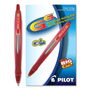 Pilot G6 Gel Roller Ball Pen, Retractable, Fine Point, Red Ink