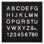 "Quartet® Plastic 1/2"" Helvetica Characters for Grooved Felt Boards, 300/Set, White"