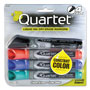 Quartet Enduraglide Dry Erase Marker, Chisel Tip, Four Color Set