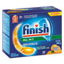 Finish® Dish Detergent Gel Packs, Orange Scent
