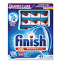 Finish® Quantum Dishwasher Tabs, White, 25 Count
