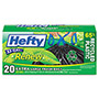 Hefty Renew Recycled Kitchen & Trash Bags, 33gal, 1.1mil, 24 x 27 1/4, Black, 20/Box