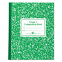 Roaring Spring Paper 77920 1st Grade Ruled Composition Book, 50 Sheets, Green Marble Cover