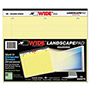 Roaring Spring Paper Landscape Format Writing Pad, College Ruled, 11 x 9-1/2, Canary, 75 Sheets/Pad