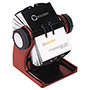 Rolodex Rotary Business Card File, Mahogany