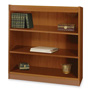 "Safco Square Edge Veneer 3 Shelf Bookcase, 36"" x 12"" x 36"", Medium Oak"