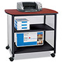Safco Impromptu Deluxe Machine Stand, 34-3/4w x 25-1/2d x 31h, Cherry/Black