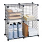 "Safco Wire Shelving Unit, 14"" x 14"", 5 Cubes, Black"