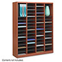"Safco Literature Organizer, 60 Compartment, 40"" x 11 3/4"" x 52 1/4"", Cherry"