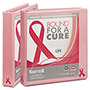 "Samsill Breast Cancer Awareness 1"" View Binder, Pink"