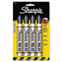 Sanford King Size Permanent Markers, Black, 4/pack